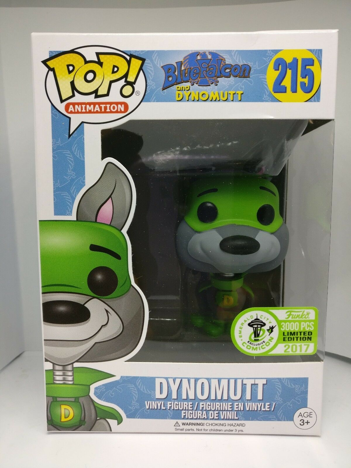Funko POP  215 Dynomutt exclusive limited Emerald Comicon 3000pcs