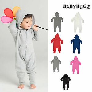 BabyBugz-Baby-All-in-one-BZ25-Toddler-Plain-One-Piece-Hooded-Zipped-6mth-3yrs