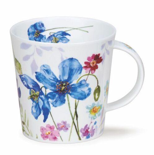 Dunoon Country Garden bleu pavot Blue poppy 0,48l tasse à thé café tasse