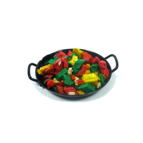 # Wok 1:12 für Puppenhaus NEU KIM 10817 Gemüsepfanne