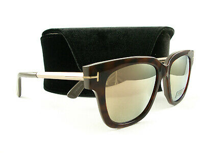 Tom Ford Square Sunglasses TF436 Tracy 56G Havana//Gold//Gray 53mm FT0436