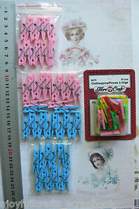 Decorative-Mini-PEGS-with-Spring-MULTI-24-mm-amp-BLUE-amp-PINK-35-mm-long-MultiList