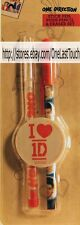 "ONE DIRECTION 3 pc Set STICK PEN + PUSH PENCIL+ ROUND WHITE ERASER ""I Heart 1D"""