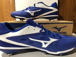 b30ece0a4 Mizuno Baseball 16 Metal Cleat Royal Blue Heist IQ Low Cut Mens ...