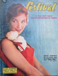 Cinema-Romanzi-Foto-Rivista-Festival-N-343-di-1956-Odile-Versois-Guy-Bertil