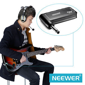 neewer portable electric guitar plug mini headphone amp amplifier metal fx 18 ebay. Black Bedroom Furniture Sets. Home Design Ideas
