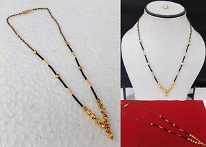 Gold-Plated-Ethnic-Wedding-Kanthi-Mangalsutra-Mala-Indian-Women-Fashion-Jewelry