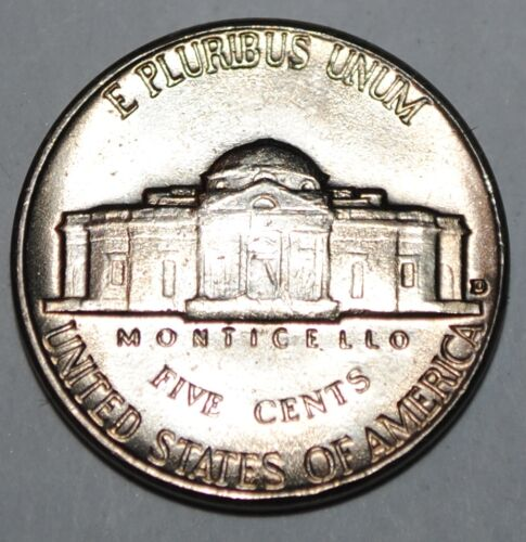 United States 5 Cents 1961 D Jefferson Nickel BU USA UNC KM# A192