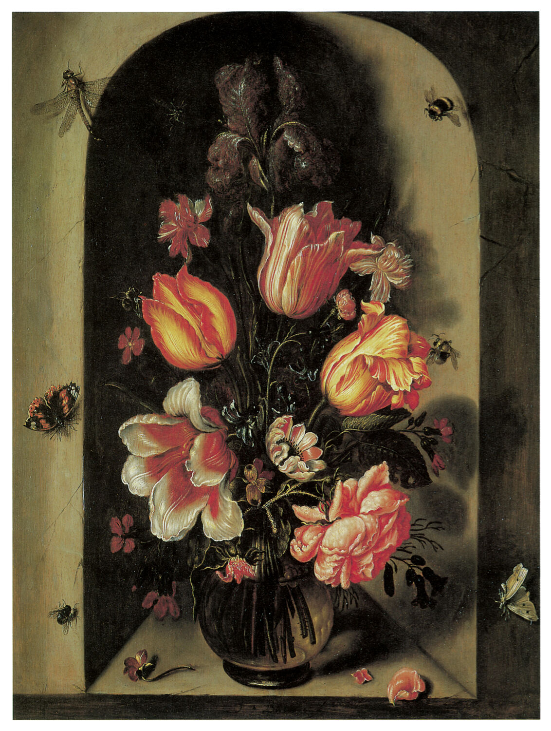 1160.Bees & butterflies Floral Art Decor POSTER.Graphics to decorate home office