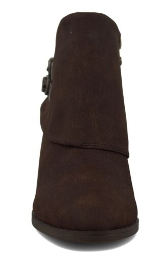 Blowfish NEW Sistee Tobacco dark brown low heel fashion ankle boots sizes 3-8