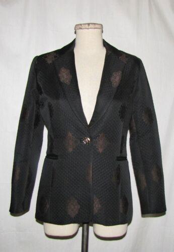 4 St bouton Blazer brun Coat baroque noir à Collection John impression ajusté 1 r7fwrqpn