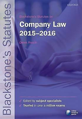 Blackstone's Statutes on Company Law: 2015-2016 by Oxford University Press (Pap…