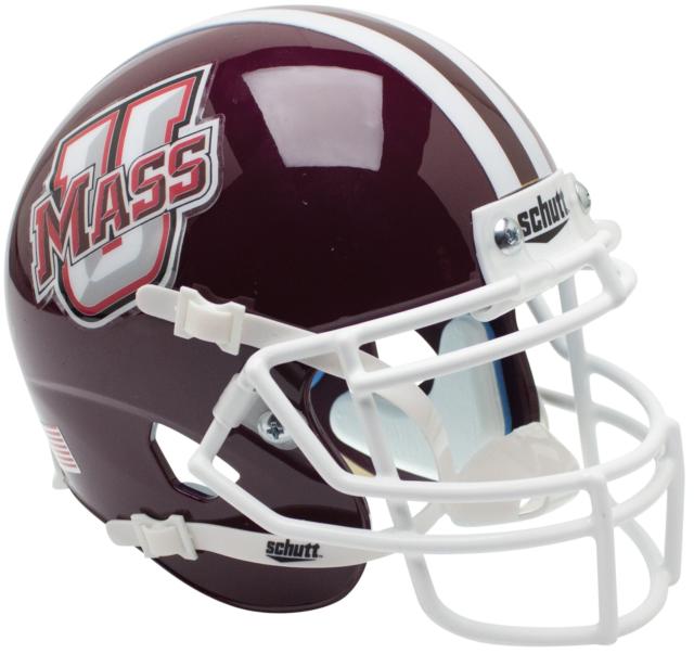 UMASS MINUTEMEN NCAA Schutt XP Authentic MINI Football Helmet U MASS