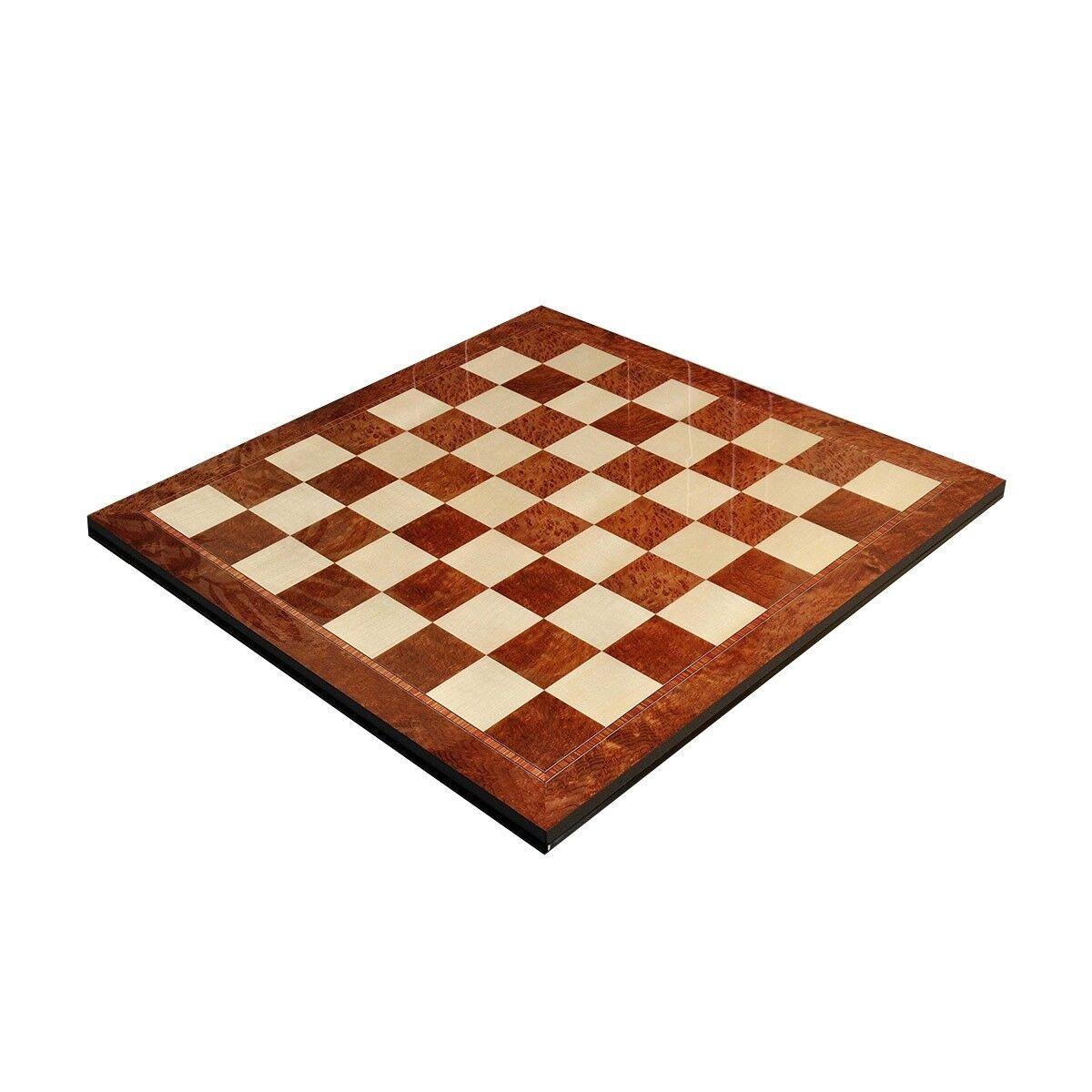 Vavona Burl &  Maple Superior Traditional Chess Board - 2.5  Squares  profitez d'une réduction de 30 à 50%