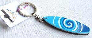 NEW-Blue-swirls-plastic-surfboard-keyring-summer