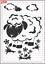 Cute Sheep in Pairie Stencil MYLAR A4 sheet strong reusable Wall Art Craft Deco