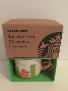 Starbucks Café You Are Here Orlando Céramique Tasse Ornement Neuf avec Boîte