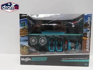 1-24-BURAGO-MAISTO-FORD-MUSTANG-GT-2015-ASSEMBLYLINE-MAISTO-DIE-CAST