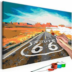 Malset mit Holzrahmen 60x40 Leinwand Erwachsene Gemälde Kit DIY n-A-0719-d-a