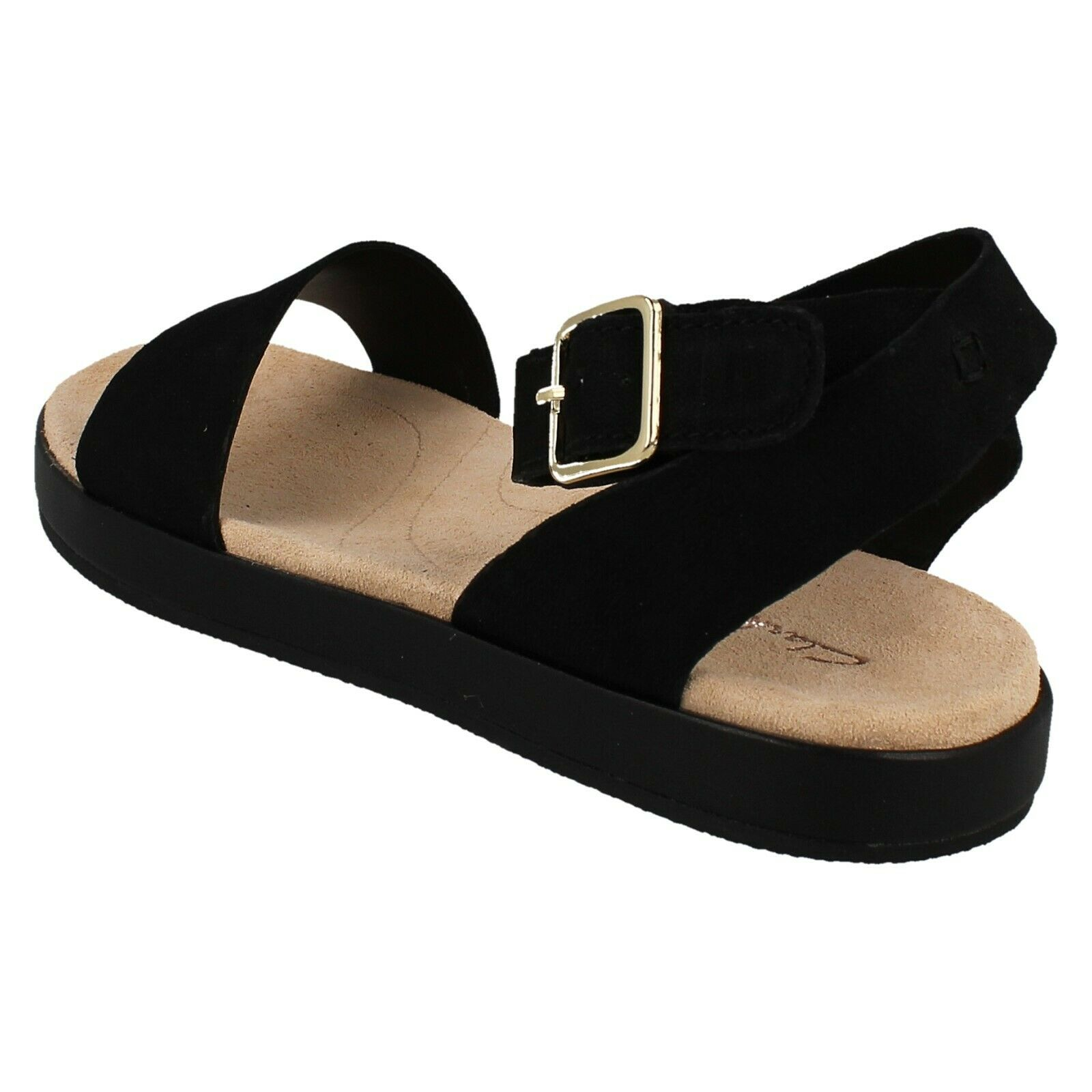 LADIES CLARKS LEATHER BUCKLE BUCKLE BUCKLE ANKLE STRAP CASUAL SANDALS OPEN TOE BOTANIC IVY  | Neue Produkte im Jahr 2019