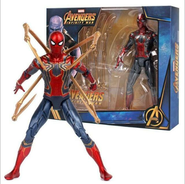 "Avengers Infinity War Iron Spider Man Marvel Figure Model 7"" Toy Fans Gifts"