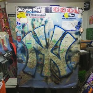 Details about NY YANKEE SUBWAY MAP XXL