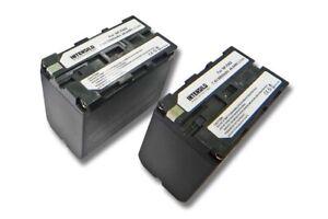 2x Batterie INTENSILO 6600mAh pour Sony NP NPF F-930 950 960 970 ACCU