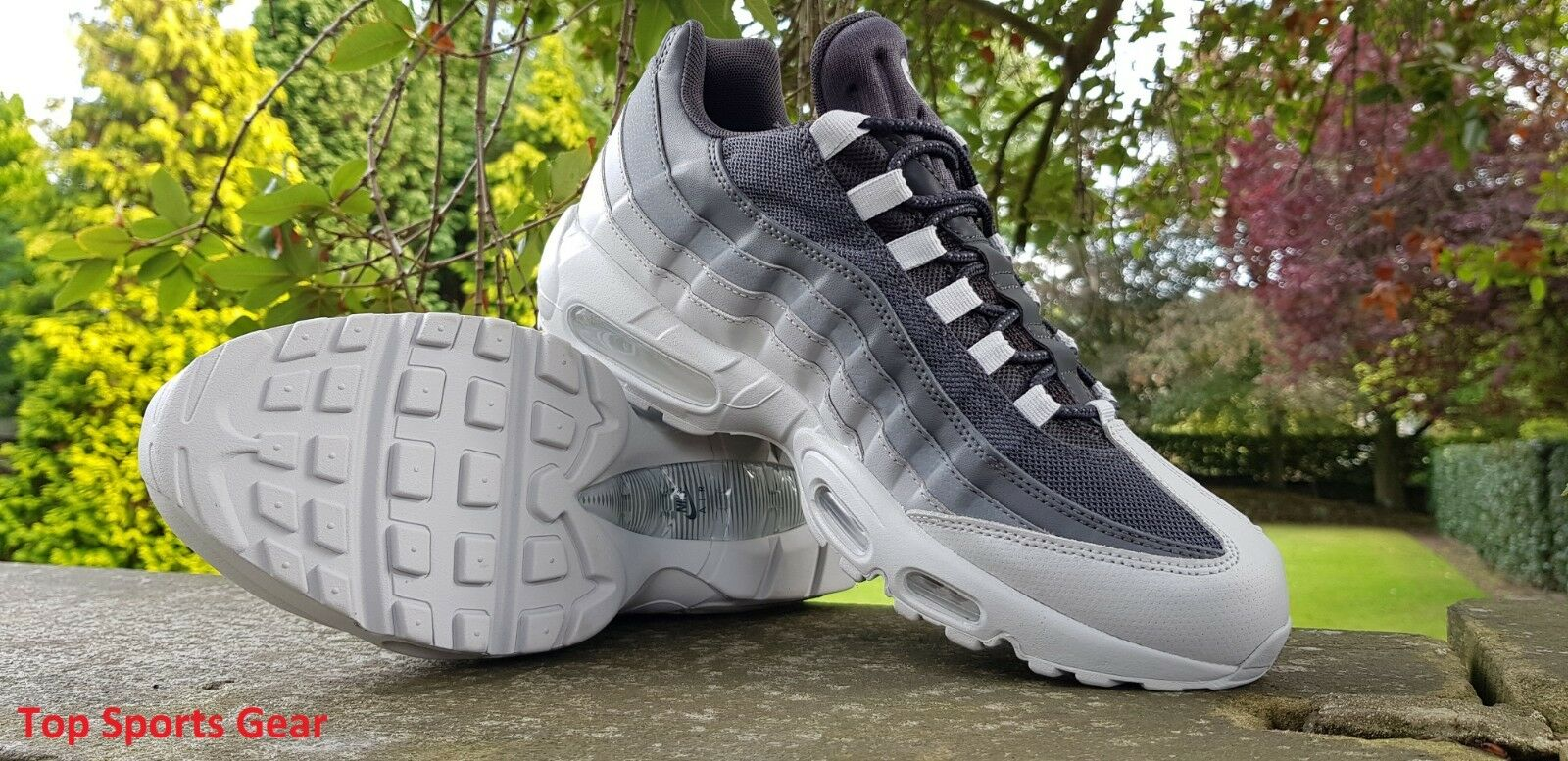Nike Air Bleu Max 95 ESSENTIAL Baskets Homme Bleu Air Gris Jaune Tailles UK 5 -12 RRP £ 129 692400