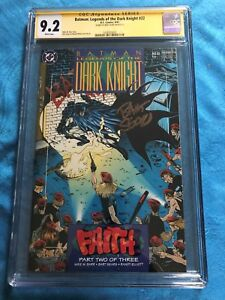 Batman-Legends-of-the-Dark-Knight-22-DC-CGC-SS-9-2-NM-MT-Signed-by-Sears