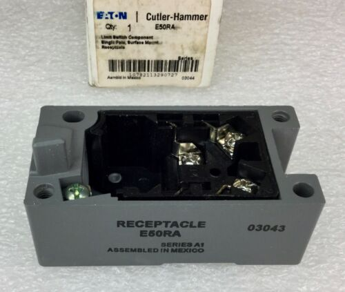 CUTLER HAMMER E50RA SINGLE POLE LIMIT SWITCH RECEPTACLE 1 N.O. 1 N.C. NEW IN BOX