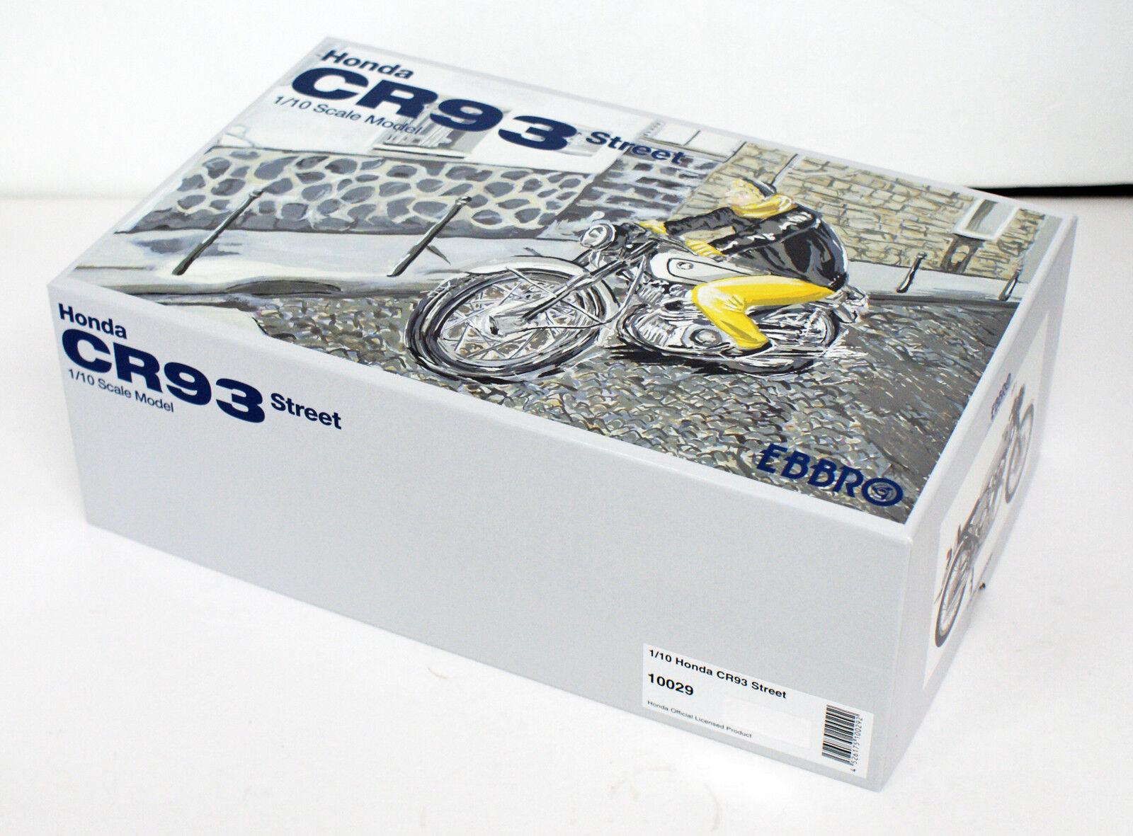 Ebbro 10029 Honda CR93 Street Bike (negro) Escala 1/10