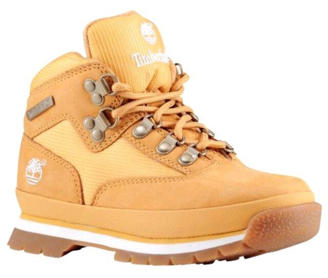 TIMBERLAND TB096975231 EURO HIKER Jr's (M) Wheat LeatherCordura Hiking Boots