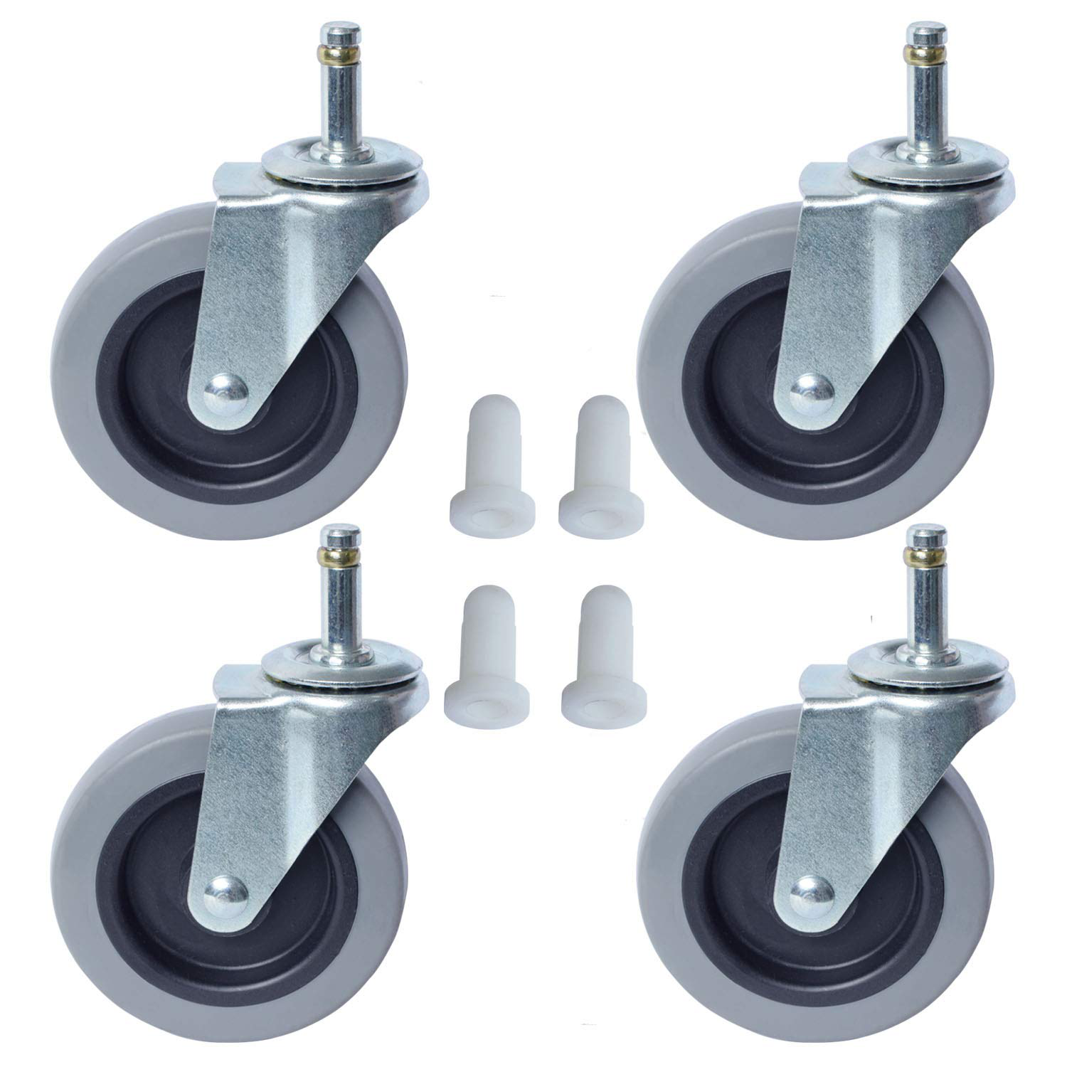 """1//4/"""" STERILITE Replacement Caster Rolling Wheels for Office Storage Cart Drawers"""