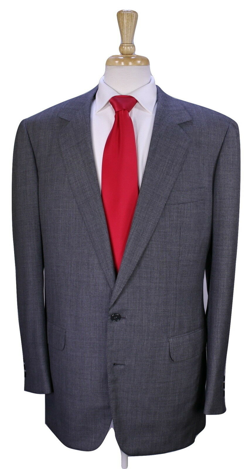 CHARVET  Paris Custom Made for BRUCE WILLIS grau Wven 2-Btn Wool Suit 42L