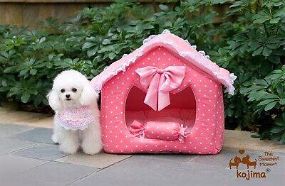 KOJIMA Prince & Princess Soft Warm Pet House Bed Kennel for Small-Medium Dog Cat