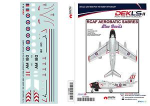 1-72-Canadair-Sabre-RCAF-Blue-Devils-Team-Leader-Decal-DEKL-039-s-II
