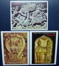 ST. VINCENT 1993 INDOPEX Reliefs Dichtung Block 293-295** MNH