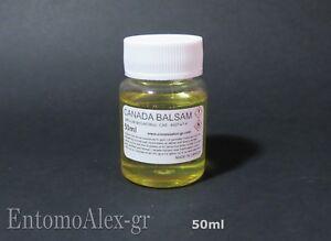 CANADA BALSAM 50 ml mounting medium balsamo Incollaggio lenti CEMENTING FIR GUM