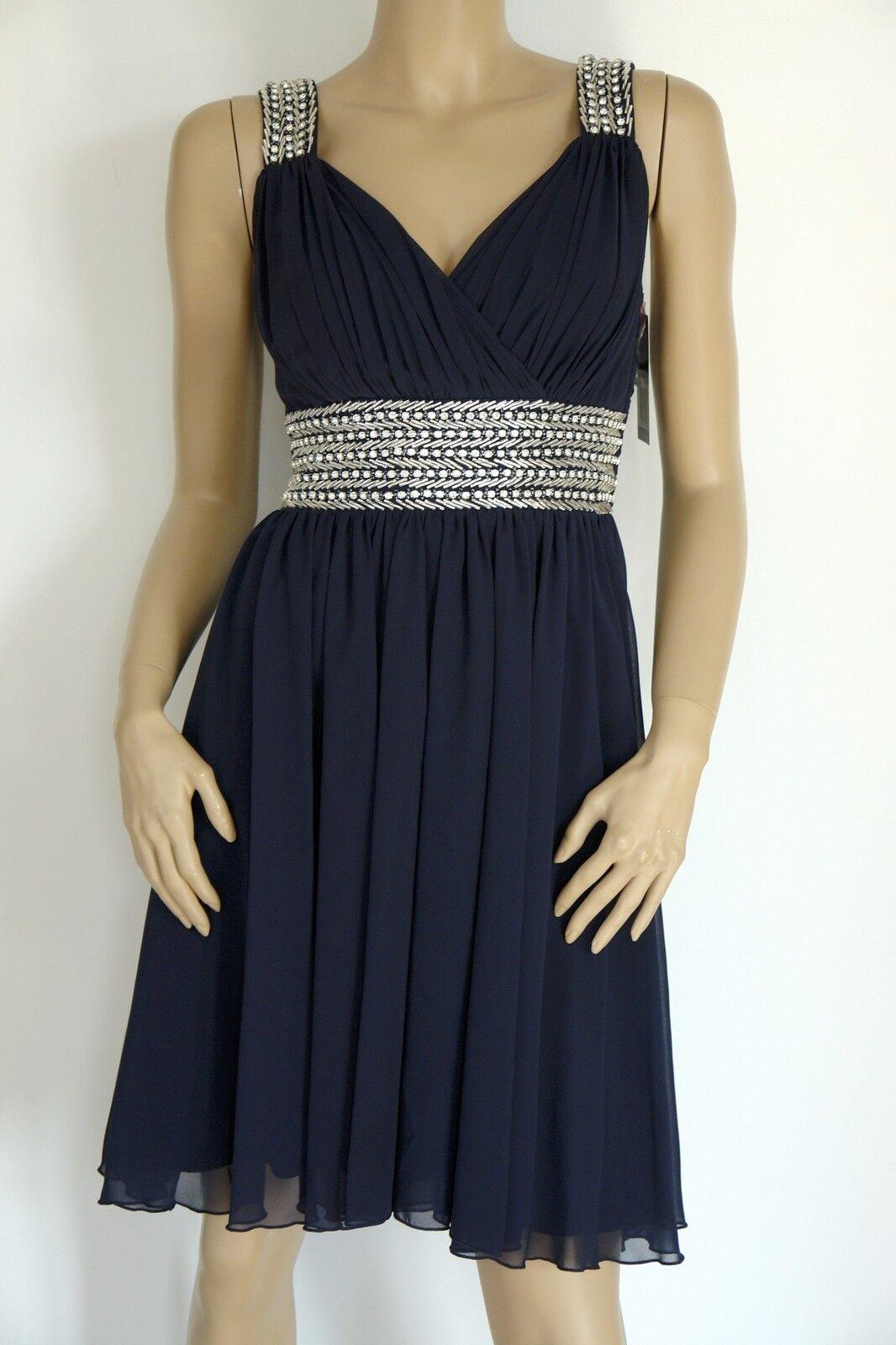Ashley Brooke  tolles Abendkleid Cocktailkleid Kleid  dunkelblau  NEU