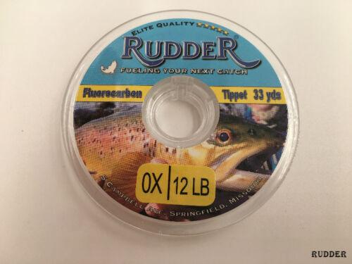 3PCs Rudder Fly Fishing Tippets Fluorocarbon Sink 33 Yard 0 1x 2x 3x 4x 5x 6x 7x