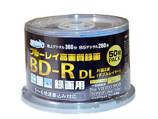 50 Hi-Disc Blu ray BD-R DL 50gb No Logo Dual Layer Bluray Inkjet Printable tdk