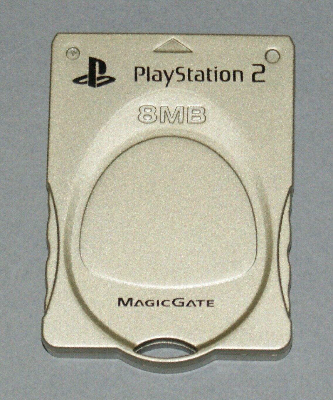 Gold 8MB PS2 Memory Card - Sony PlayStation 2 - Tested Kotobuki Magic Gate