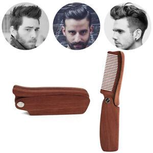 Details about Folding Wooden Beard/Moustache Comb - KEEP SHARP - sandalwood  beard comb