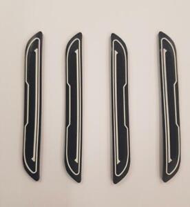 4-x-Protectores-de-proteccion-de-arranque-de-la-puerta-de-caucho-Negro-Blanco-Insertar-DG5-se-adapta