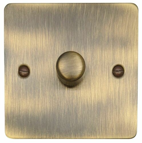 G/&H FAB11 Flat Plate Antique Bronze 1 Gang 1 or 2 Way 40-400W Dimmer Switch