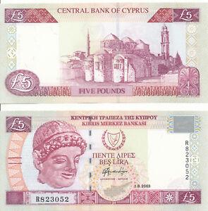 Cyprus-Cyprus-5-Pounds-Lira-1-9-2003-UNC-Pick-61b