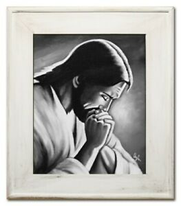 Religion-Jesus-Christ-Handmade-Oil-Painting-Picture-Oil-Frame-Pictures-G95029