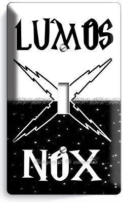 Harry Potter Lumos Nox Magic Words Dark 1 Gang Light Switch Wall Plate Art Decor Ebay