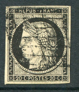 FRANCE ~ #3A Nice Used Imperf Issue 4 Margins CERES ~ S5311