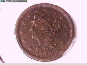 1843 Large Cent PCGS Genuine Env. Damage - F Details Mature Head 37544934 Video